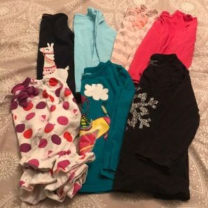Lot of girls long sleeve shirts